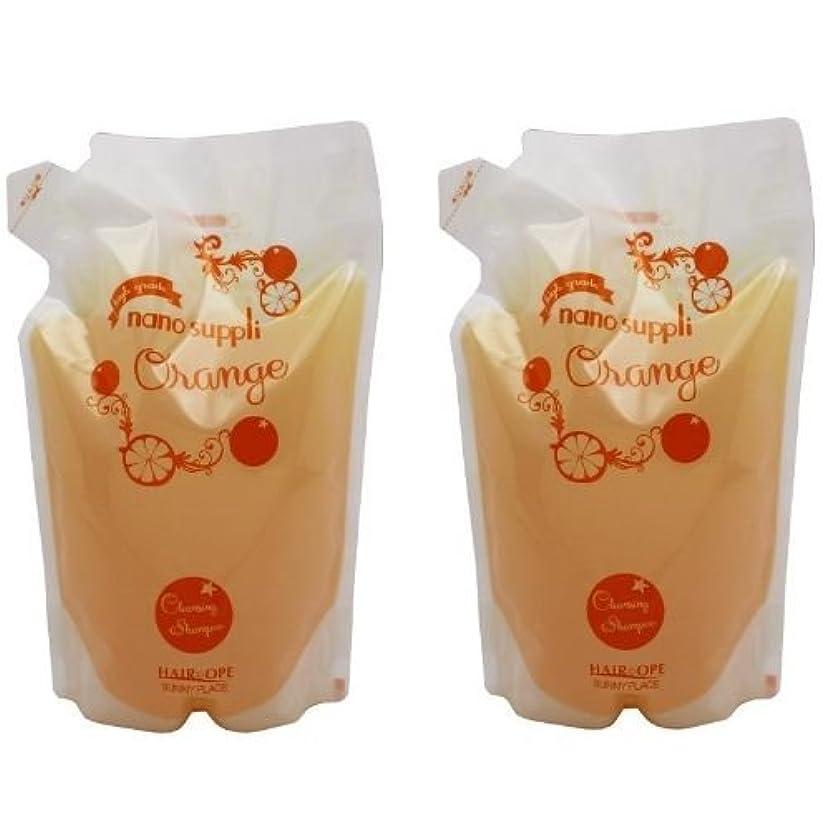 排気略奪ヘッドレス【X2個セット】 サニープレイス ナノサプリ クレンジングシャンプー オレンジ 800ml 詰替え用