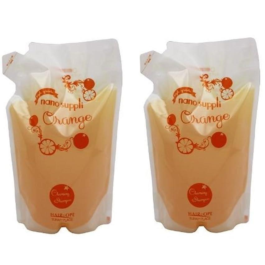 少ない服を片付けるグレートオーク【X2個セット】 サニープレイス ナノサプリ クレンジングシャンプー オレンジ 800ml 詰替え用