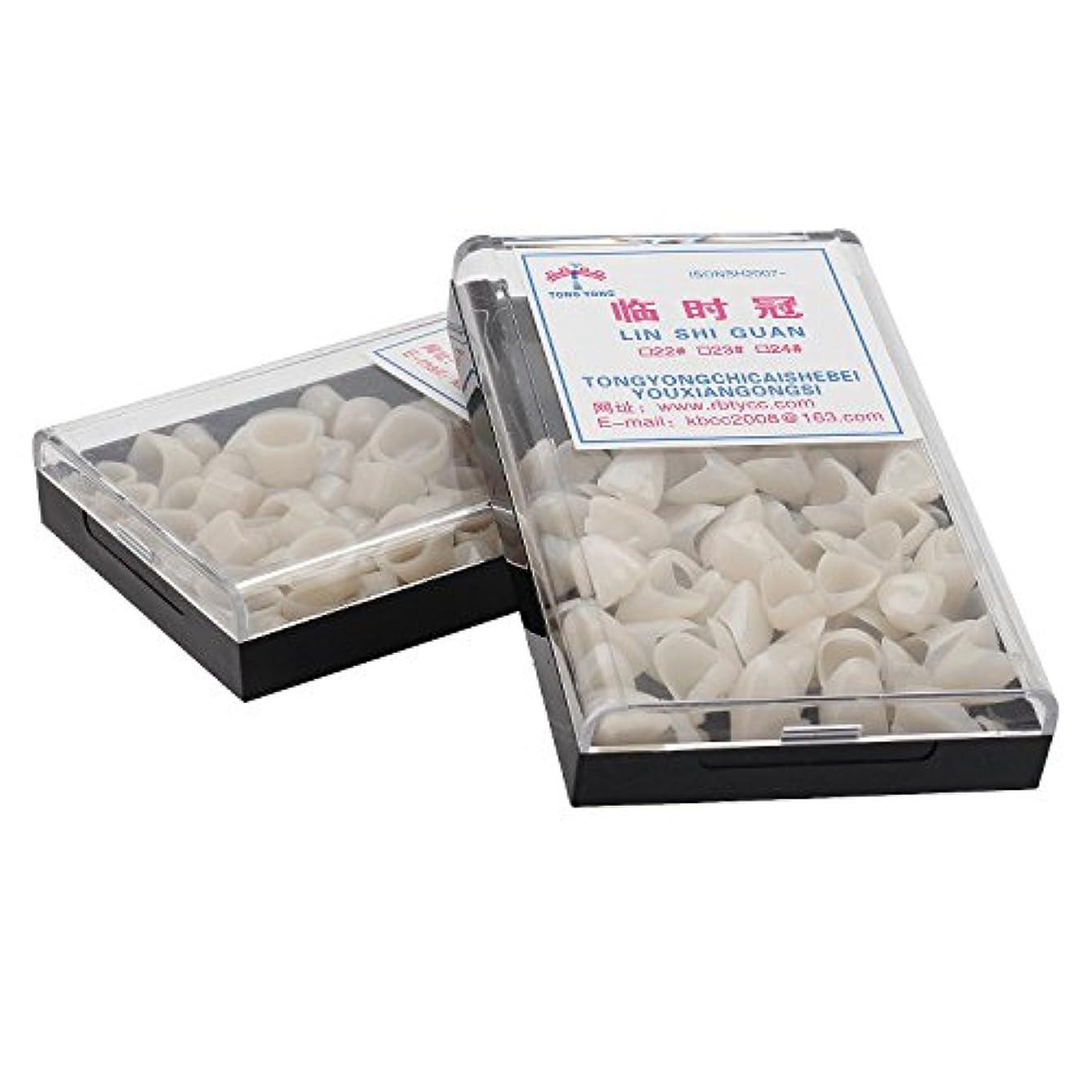 テープストラップ永久にMerssavo 100個の歯科用仮のクラウン単板材料前歯の臼歯