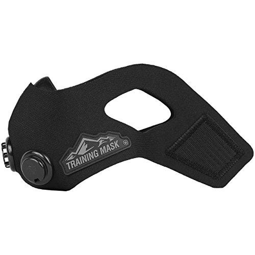 Training mask トレーニングマスク エレベーションマスク 低酸素 高地トレーニング 肺活量 (Blackout, M)