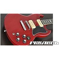 【国内正規品】 PLAYTECH プレイテック エレキギター SG250 P90 Cherry
