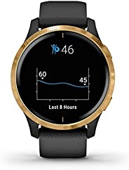 Garmin GM-010-02173-39 Venu GPS Smartwatch with Bright and Beautiful Display Built, Black/Gold