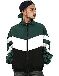 [アビト] ジャケット トラックジャケット ウインドブレーカー メンズ グリーン XL サイズ