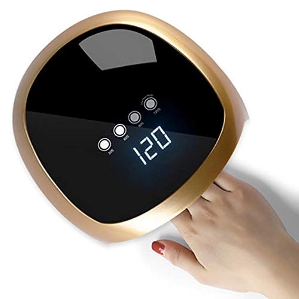 パノラマ定規控えめな家庭用ネイルアート用ポータブルネイルドライヤー、LED UVネイルランプ硬化ランプ、プロフェッショナルマシンマニキュア/ペディキュア,金