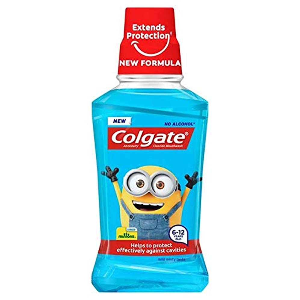炎上毛皮ファブリック[Colgate ] コルゲート子供の手下6+年のマウスウォッシュ250ミリリットル - Colgate Kids Minions 6+ Years Mouthwash 250ml [並行輸入品]