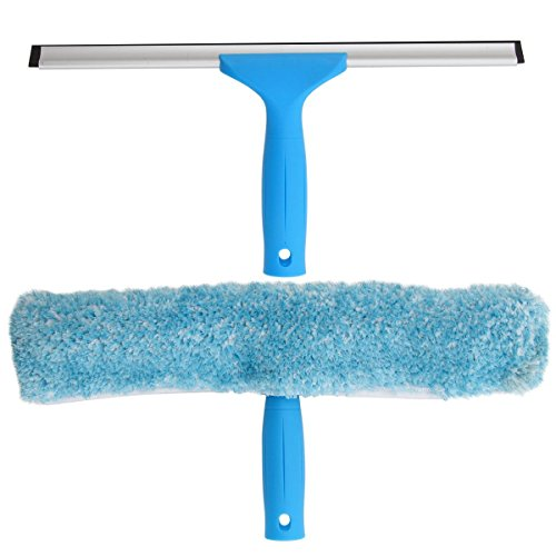 MR.SIGA Window Cleaning Combo - Squeegee & Microfiber Window Washer, Size: 35cm