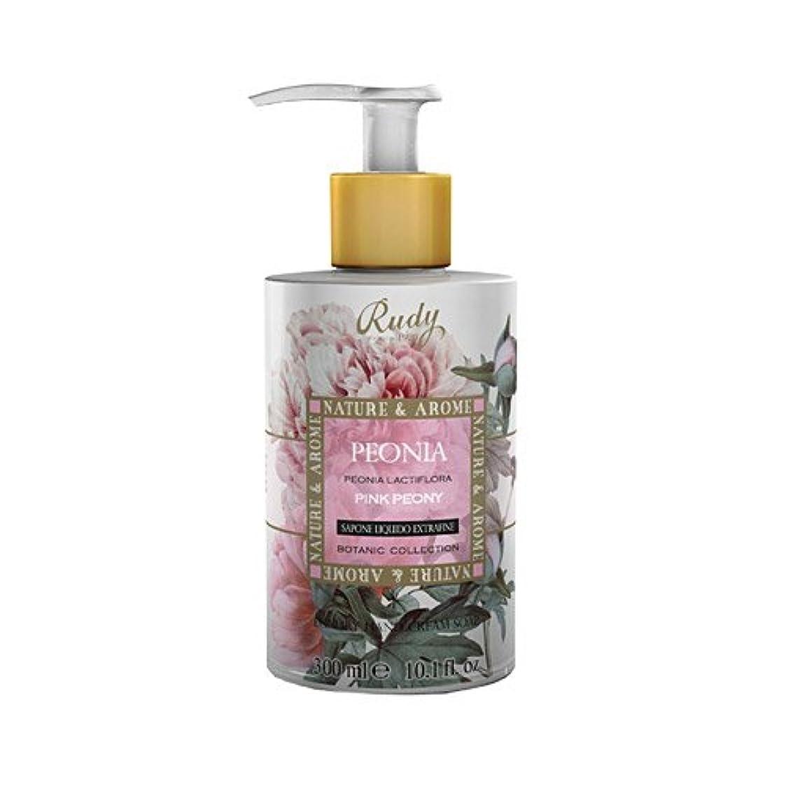 置換コートドメインRUDY Nature&Arome SERIES ルディ ナチュール&アロマ Liquid Soap リキッドソープ ピンクピオニー