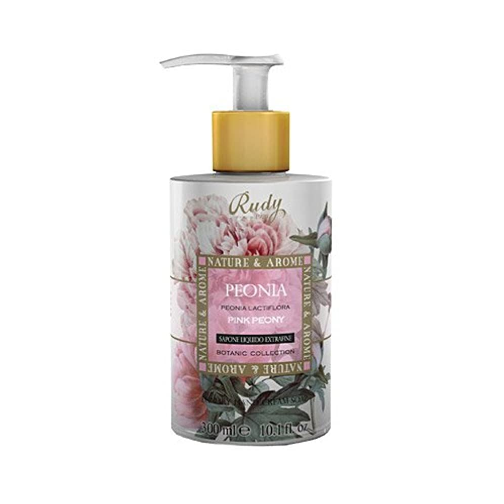 カルシウム歩くリングバックRUDY Nature&Arome SERIES ルディ ナチュール&アロマ Liquid Soap リキッドソープ ピンクピオニー