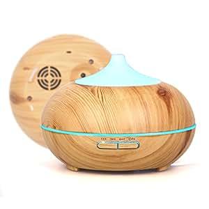 Anypro アロマディフューザー 超音波式 卓上加湿器 ムードランプ 空焚き防止 切タイマー 各場所用 木目調 …