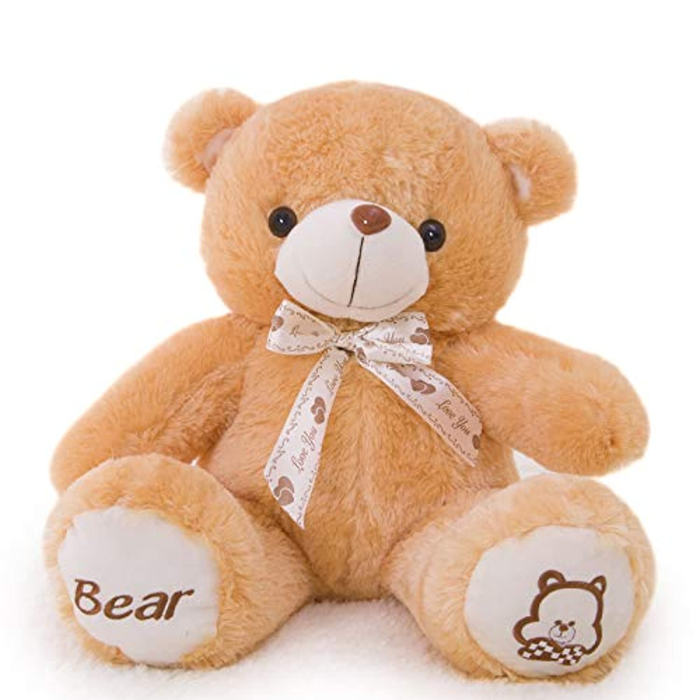 タイのテディベアの置物、60-80-100-120-140cm色の蝶ネクタイのぬいぐるみは、ガールフレンドの誕生日バレンタインデーの休日のギフトを送る (色 : Brown, サイズ さいず : 120cm)