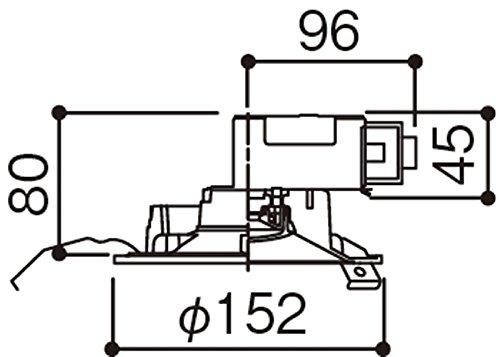 パナソニック(Panasonic) ワンコアダウンライトφ125(60形電球1灯相当)昼白色 LSEB5120LE1