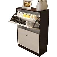 白い垂直靴キャビネット、木製回転靴キャビネット入り口居間多層多機能ロッカー (サイズ さいず : 60 * 24 * 83CM)