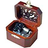 WESTONETEK Vintage Wood Carved Mechanism Musical Box Wind Up Music Box  Christmas/Birthday/Valentine's Day, Melody Castle in