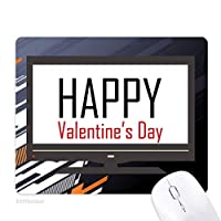 バレンタインデーの祝福の祭りの休日を祝う祭りの祝賀の言葉 ノンスリップラバーマウスパッドはコンピュータゲームのオフィス