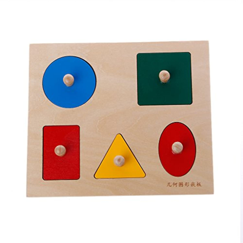 MisrightクリエイティブMontessori図形ソートパズルジオメトリボードPreschoolキッズ教育玩具