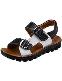 COMVIP 夏用 サンダル ベビー靴 カジュアル 通気 キーズシューズ 普段用 ビーチ用 滑り止め ファッション 軽量 歩きやすい プレゼント ブラック