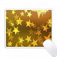 黄色の層状の浮遊星条旗 PC Mouse Pad パソコン マウスパッド