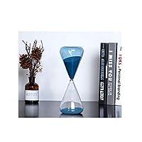 ZZFF 砂時計、現代のミニマリストスタイル砂時計、Aとても良い卓上装飾、青と透明色の組み合わせ(大、中、小あなたの選択のため) (Size : Large)