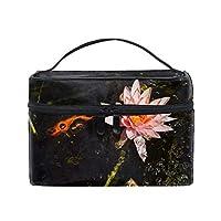 便携式スイレンスイレン開花水 メイクボックス 收納抜群 大容量 可愛い 化粧バッグ 旅行