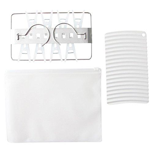 無印良品 携帯用ランドリーセット 洗濯板・ミニ角型ハンガー