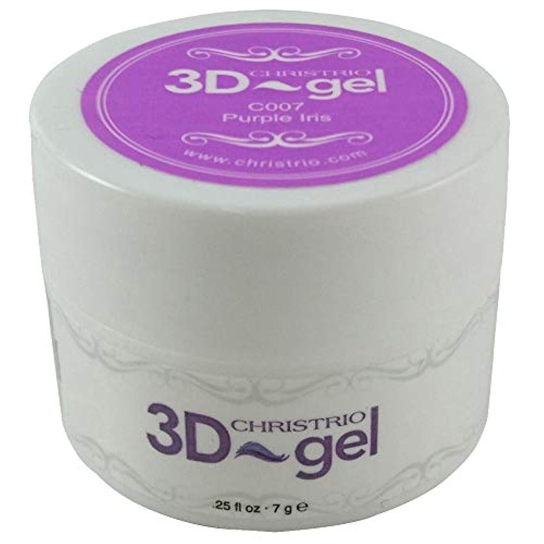 争うレシピ子羊CHRISTRIO 3Dジェル 7g C007 パープルアイリス