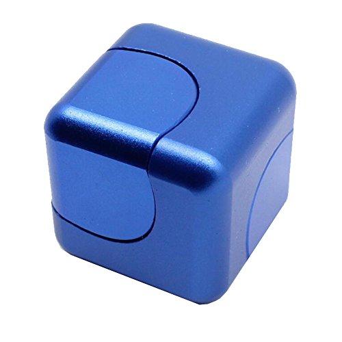 Vicstar Hand spinner Fidget Spinner ハンドスピナー スピン ウィジェット ブロックタイプ 立方体 重量感 フォーカス玩具 EDC玩具 デスク玩具 ストレス解消 時間をつぶす 超耐久性 高速 電子 亜鉛合金 安全性高い ブルー