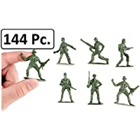 Army Toy Soldiers Action Figures ( Green ) - Assorted -144 Pack Deluxe - For Children, Boys, Girls, GI Joes, Parties, Gifts, Party Favors - Kidsco [並行輸入品]