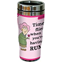 Funny Aunty Acid Time Flies! Travel Mug, Stainless Coffee Tumbler, 16-Ounce sg23791, Hilarious Gifts for Drinkers and Rum Lovers Tree-Free Greetings