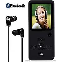 【Newiy Start】mp3プレーヤー Bluetooth sdカード対応 スピーカー内蔵 デジタルオーディオプレーヤー 超軽量 8GB内蔵容量 最大128GBまで拡張可能 音楽プレイヤー 小型 高音質 FMラジオ 歩数計 対応