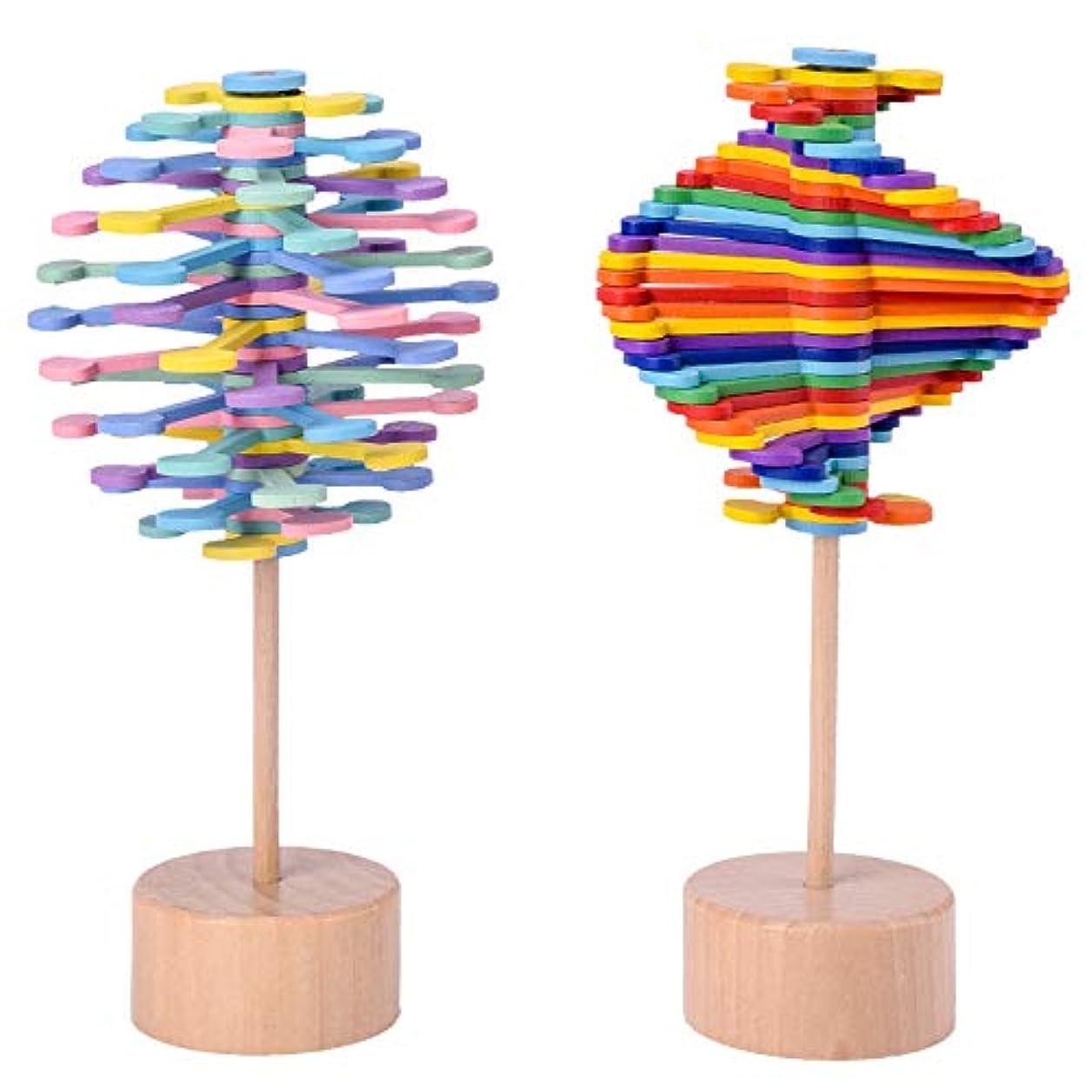 ジャグリングクルーズ化学者フィボナッチツリー,lollipopter、回転、費氏数列、創意的な置物、ストレス解消玩具、ストレス軽減 (A)