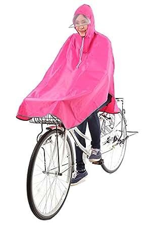 krosta(クロスタ) 自転車用 レインコート ポンチョタイプ 男女兼用 フリーサイズ (ピンク/日本語パッケージ)