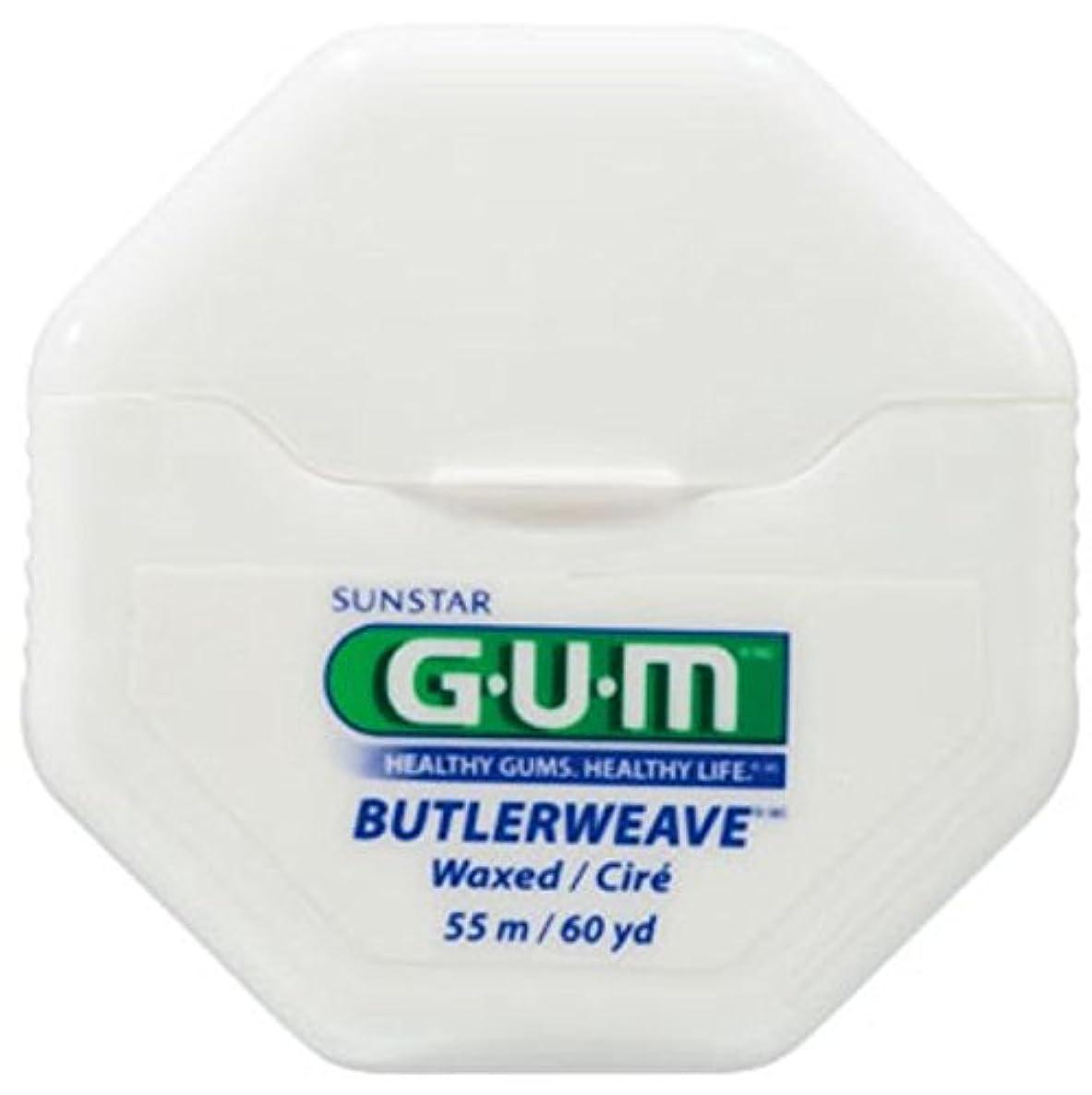 すずめリットル防腐剤SUNSTAR GUM ガム バトラー ウィーブフロス 60ヤード(54.8m) ワックス付/ノンフレーバー