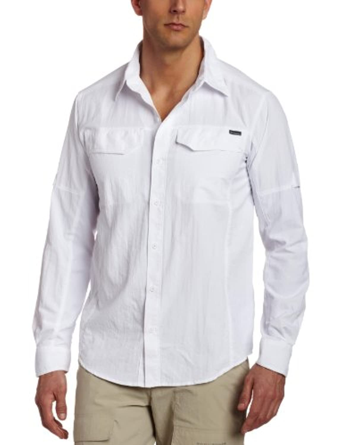 Columbia Silver Ridge Chemise manches longues Homme Blanc FR : XL (Taille Fabricant : XL)
