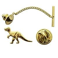 T RexまたはTyrannosaurusタイタック~ 24Kゴールド~タイタックまたはピン~サラのTreats & Treasures