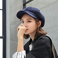 XAYTYKHBHDAU British Woolen Beret Painter Cap Octagonal Cap Warm Winter hat (Color : A03, Size : One Size)