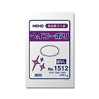 ヘイコー ビニール袋 ヘイコーポリ No.1512 0.015mm厚 200枚 006615012
