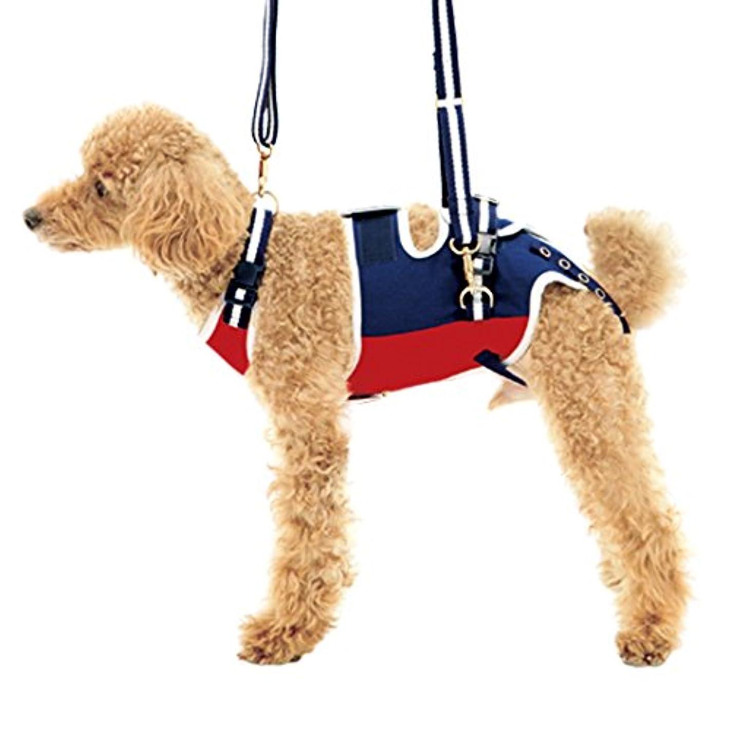 眉をひそめる適合するビリーヤギWith(ウィズ) 歩行補助ハーネス LaLaWalk 小型犬?ダックス用 ロイヤルスクール S サイズ