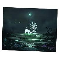 P Prettyia クロスステッチキット ダイヤモンド 5D 動物 ダイヤモンド絵画 フルドリル 壁掛け 装飾 全5色 - 鹿