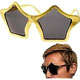 パーティーサングラス おもしろメガネ ゴールド星 ms185