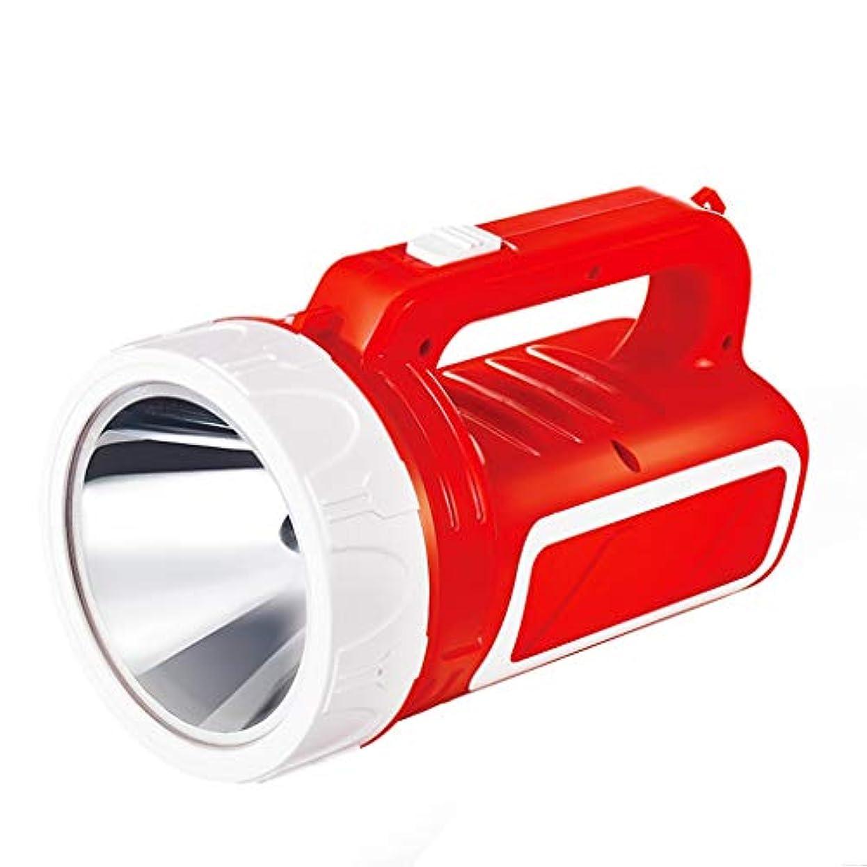 ベルこねる落ち込んでいるサーチライトマイナーランプ屋外グレア充電式家庭用長距離多機能懐中電灯 (色 : Red)
