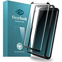 Klearlook Samsung Galaxy S8 Plus用強化ガラスフィルム 「改善版 貼付け易い道具付」 「ケースに干渉せず」 タッチ感度良好 高透過率 (ガラス液晶面1枚+背面1枚+ガイドツール ) (S8 Plus)