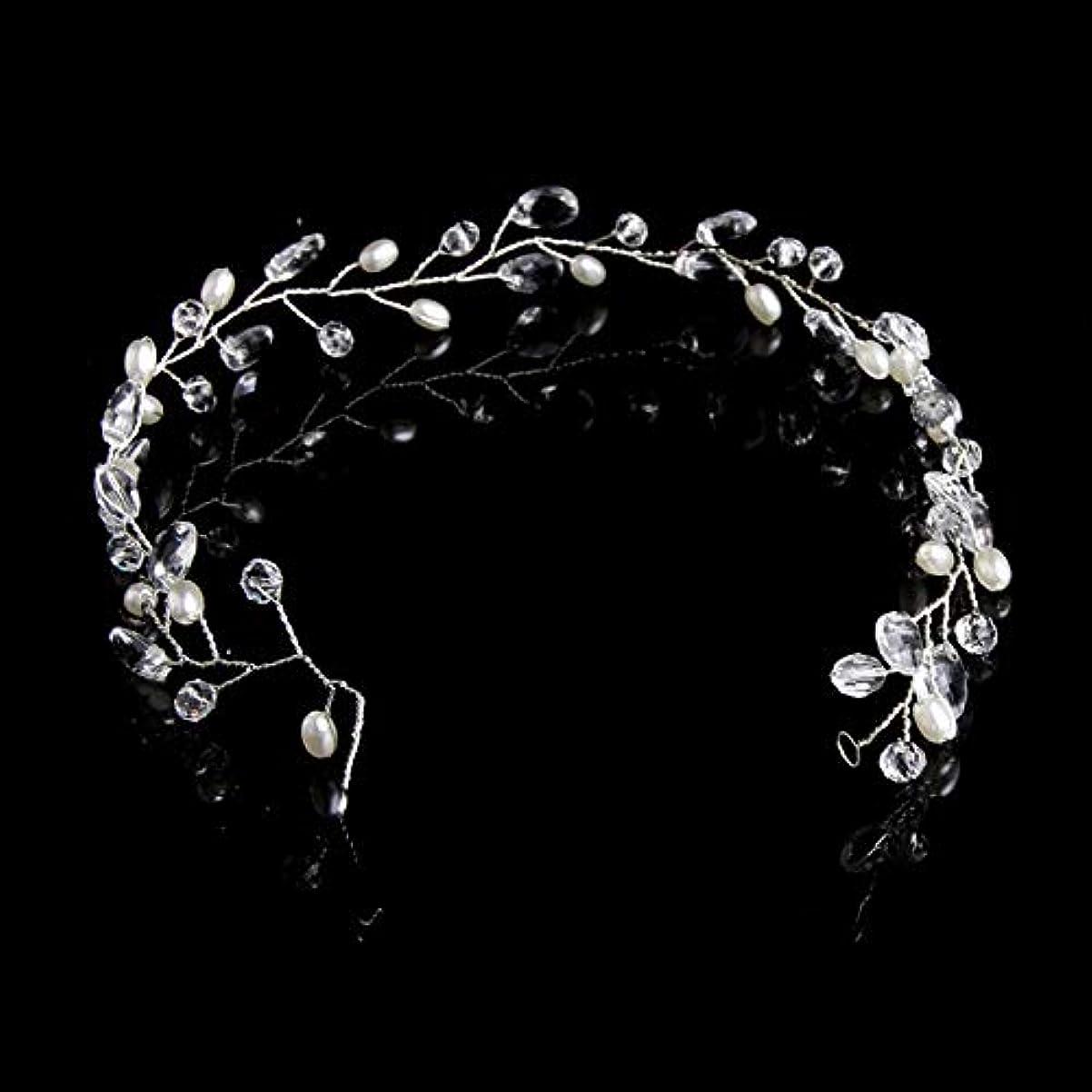未亡人しゃがむ夕方フラワーヘアピンFlowerHairpin YHMファッション葉ブライダルヘアアクセサリー手作りクリスタルヘアジュエリーウェディングヘッドバンド女性用ヘッドピース(ゴールド) (色 : Silver)