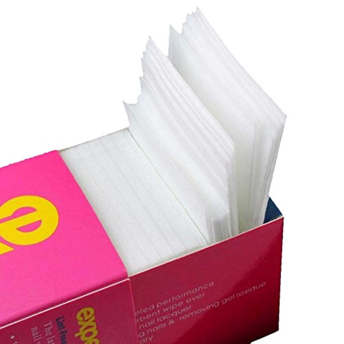 笑い和らげる弾性CUHAWUDBA 325枚ネイルワイプリントフリーコットンパッド、ネイルジェル除去用不織布綿シートネイルポリッシュクリーニングパッド