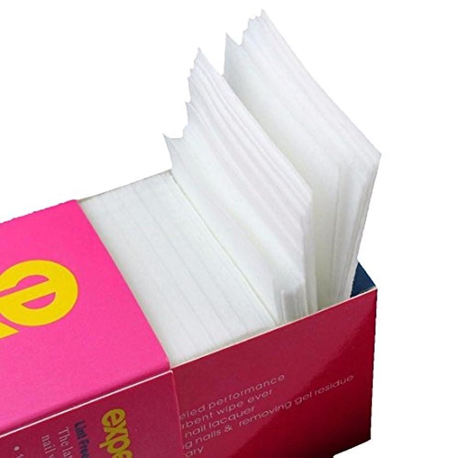 Nrpfell 325枚ネイルワイプリントフリーコットンパッド、ネイルジェル除去用不織布綿シートネイルポリッシュクリーニングパッド