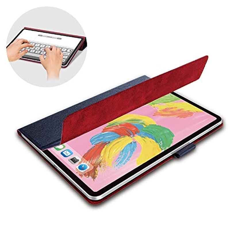 悪因子配分絶えずエレコム iPad Pro 11インチ (新iPad Pro 2018年モデル) フラップカバー イタリア製高級ソフトレザー 2アングル スリープ対応 ブルー TB-A18MWDTBU
