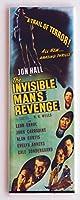 Invisible Man 's Revenge映画ポスター冷蔵庫マグネット( 1.5X 4.5インチ