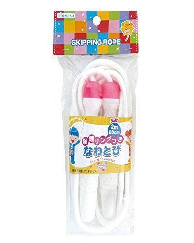 デビカ 綿ロープなわとび 子供用 保護リング付き ピンク...
