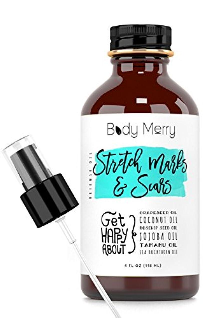 資本壊滅的な女性Stretch Marks & Scars Defense Oil 4oz ストレッチマーク、傷跡用オイル