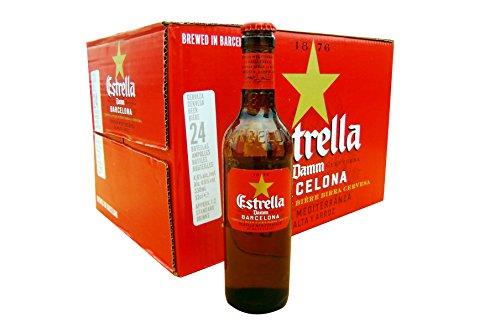 FCバルセロナ公式ビール 1本あたり241円 スペインビール エストレージャ ダム 330ml瓶×24本