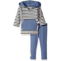 L'ovedbaby Baby-Boys Organic Hoodie and Leggings Gift Set Gift Set - Blue -